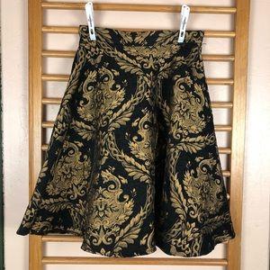 NWT Chicwish Golden Bouquet Jacquard Midi Skirt